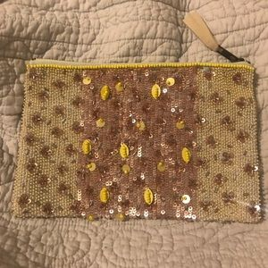 Anthropologie beaded pouch